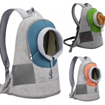 Fashion Contrast Color Portable Backpack for Pets