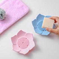 Creative Style Lotus Shaped Silicone Soap Holder