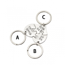 Chic Style Letters Engraved Broken Heart Pendant Key Chain Set 3 pcs/Set