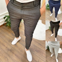 Fashion Solid Color High Waist Relaxed-fit Man's Pants