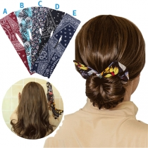 Creative Style Printed Bow-knot Hair Device 2 Piece/Set