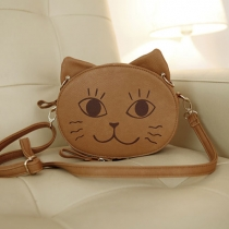 Cute Cartoon Smile Sad Angry Cat Shoulder Bag
