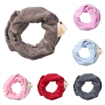 Fashion Solid Color Zipper Scarf