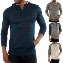 Fashion Contrast Color Long Sleeve Hooded Men's Sweatshirt