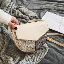 Fashion Sequin Spliced Shoulder Messenger Bag