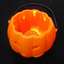 LED Flashing Pumpkin Candy Barrel Halloween Decorations