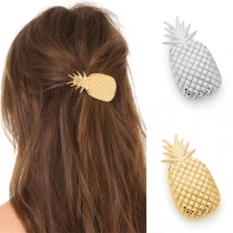 Cute Solid Color Pineapple Shape Alloy Hairpin