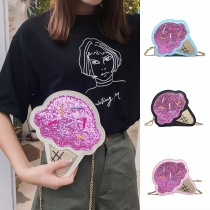 Creative Style Ice Cream Shaped Shoulder Messenger Bag