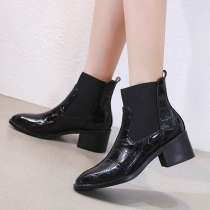 Fashion Thick Heel Round Toe Martin Boots Booties