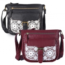 Fashion Lace Spliced Shoulder Messenger Bag