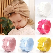 Sweet Style Solid Color Bow-knot Head Band for Kids   2 piece/Set