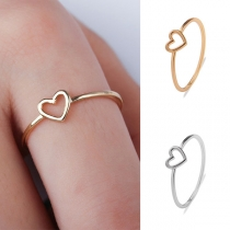 Sweet Style Hollow Out Heart Ring