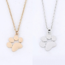 Cute Dog's Paw Pendant Necklace