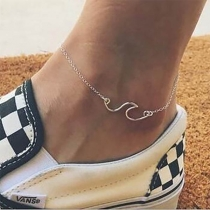 Chic Style Sea-wave Pendant Anklet