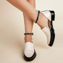 Fashion Square-heel Pointed Toe Shoes
