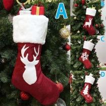 Cute Elk Pattern Christmas Sock Pendant