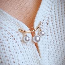 Fashion Pearl Inlaid Brooch