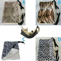 Fashion Printed Plush Lining Pets Sleeping Bag Hammock