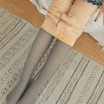 Fashion High Waist Plush Lining Leggings