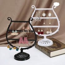 Creative Style Wine Glass Shaped Multifunctional Earrings Storage Rack