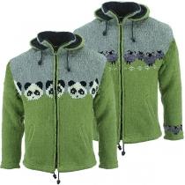 Cute Style Animal Pattern Long Sleeve Hooded Knit Coat
