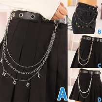 Punk Style Double-layer Trousers Chain