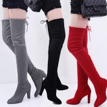 Over-the-knee boots high-heel zipper women's boots