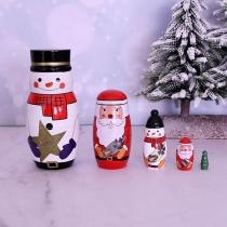 Creative Style Snowman Russian Nesting Doll Matryoshka Doll Home Decorations 5 pcs/Set